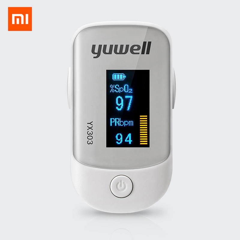 Original Xiaomi YX303 Oximeter Digital Fingertip Pulse Care OLED Screen Medical Blood Oxygen YX301 Heart Rate Monitor Family