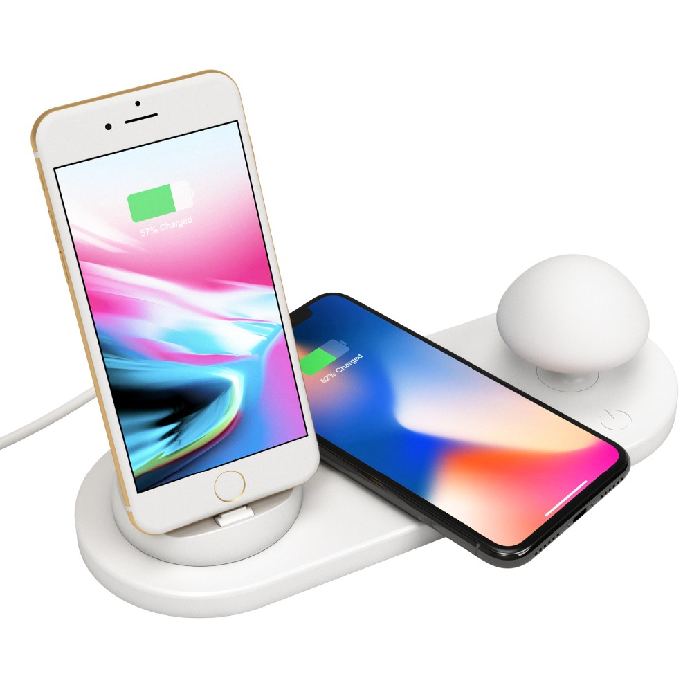10W QI Wireless Charger Cute Mushroom Lamp Desktop Wireless Charger for iPhone X 8 Samsung S9 S9+ S8 Huawei Xiaomi Drop Shipping10W QI Wireless Charger Cute Mushroom Lamp Desktop Wireless Charger for iPhone X 8 Samsung S9 S9+ S8 Huawei Xiaomi Drop Shipping