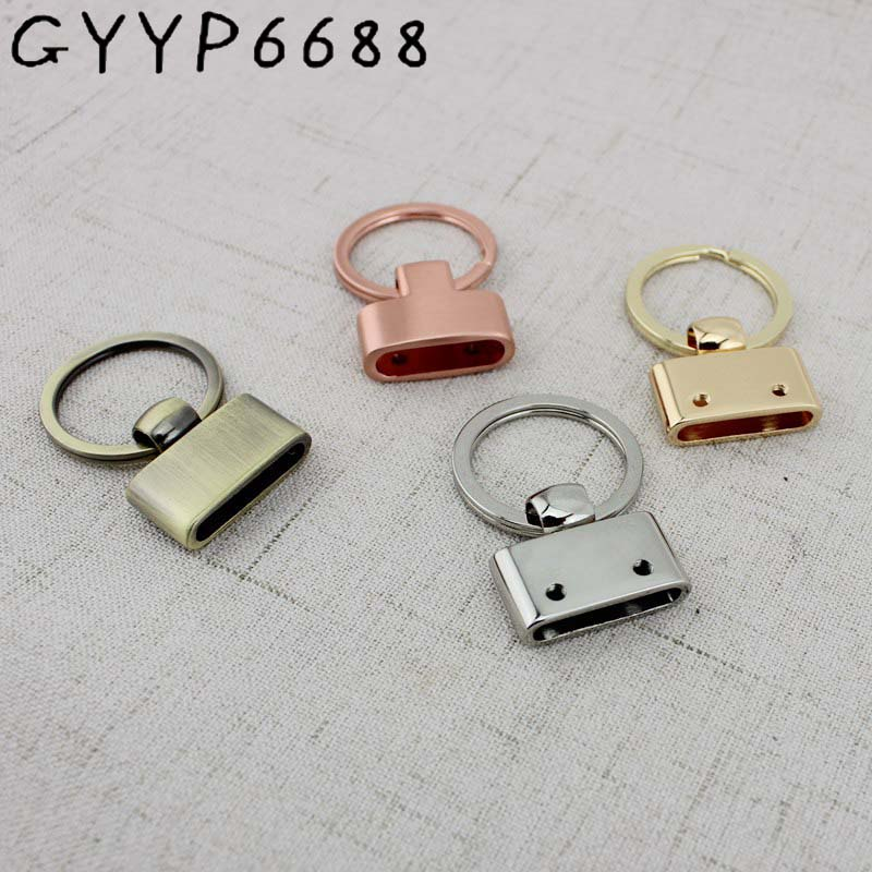 4pcs 30pcs Key O Ring Key Handmade Leather Luggage Accessories Hanging Keychain Chain Hook Pendant Key Fob Hardware
