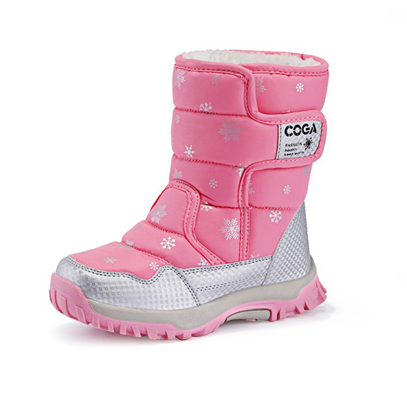 New Winter Children Shoes Leather Barefoot Boots Kids Snow Boots Brand Girls Boys Rubber Fashion Sneakers vi ann eq