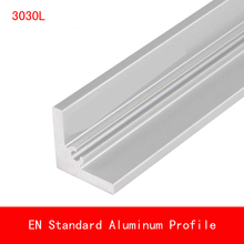 купить 2pcs length 500mm 3030 Type L Aluminium Profile Angle Plate EN Standard DIY Brackets AL 3D Printer Frame Workbench 30*30*5mm дешево