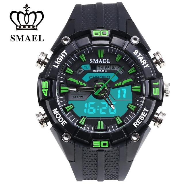 Waterproof Sports Watches Men Fashion Casual Watch Dual Time LED Digital Watch Quartz Brand WATCH  reloj hombre grande WS1352