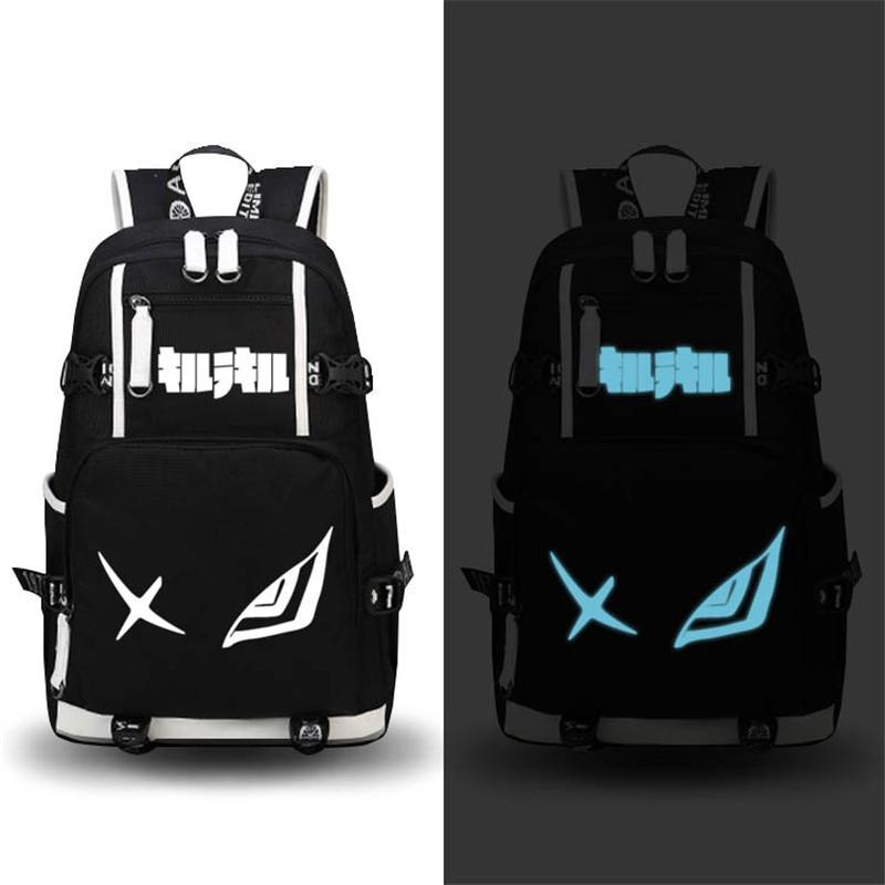 2017 New KILL la KILL Luminous Backpack Men Cosplay Matoi Ryuuko School Bags Mochila Feminina Anime Women Laptop Bags Knapsack цена 2016