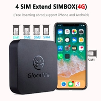 Multi 4 SIM Dual Standby No Roaming 4G SIM Router for iOS & Android , simbox,work with WiFi / Data to Make Call &SMS