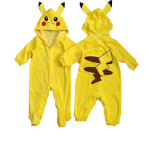 Toddler Infant Pokemon Go Team Mystic Baby Romper Pikachu Long sleeve Spring/Autumn clothing Boy Jumpsuit Infant Toddler Costume(China)
