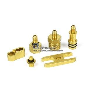 Image 3 - Universal Asien Auto Leck Detektor Stecker Adapter Set A/C Reparatur Werkzeug für A/C Klimaanlage Kältemittel system
