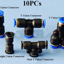 Dia.4.0mm Pneumatic Push Connector Fittings Y Union/Straight Union Connector/T Joint For Air Water T