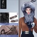 Новая мода 2016 Целые куски Натурального Меха Лисы бомбардировщик шляпы Монгольский Принцесса стиль royal Меховые шапки удивительные меховые шапки