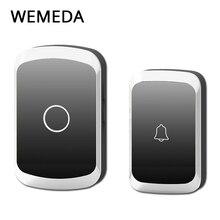 WEMEDA Беспроводной дверной звонок Водонепроницаемый Батарея Кнопка Светодиодный свет приемник США Plug 300 удаленных 36 перезвон 4 Объем домой беспроводной звонок