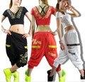 Новые модные Женщины Хип-хоп танец носить брюки тренировочные брюки ds костюм свободные случайные женские брюки гарем брюки