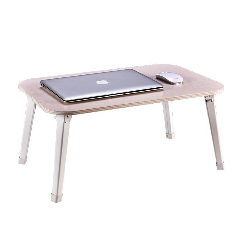 YST With a simple lazy wood folding outdoor table notebook comter desk on bed for children FREE SHIPPING 250309 folding mobile small desk home bed with simple desk paint steel pipe humanized design lazy bedside laptop desk