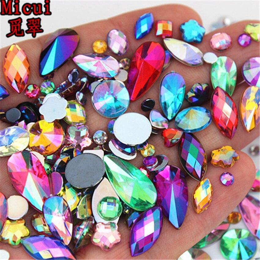 18g sobre 300pcs tamanhos de forma mista ab acrílico strass 3d prego arte strass não hotfix flatback pedras decorações mc4000