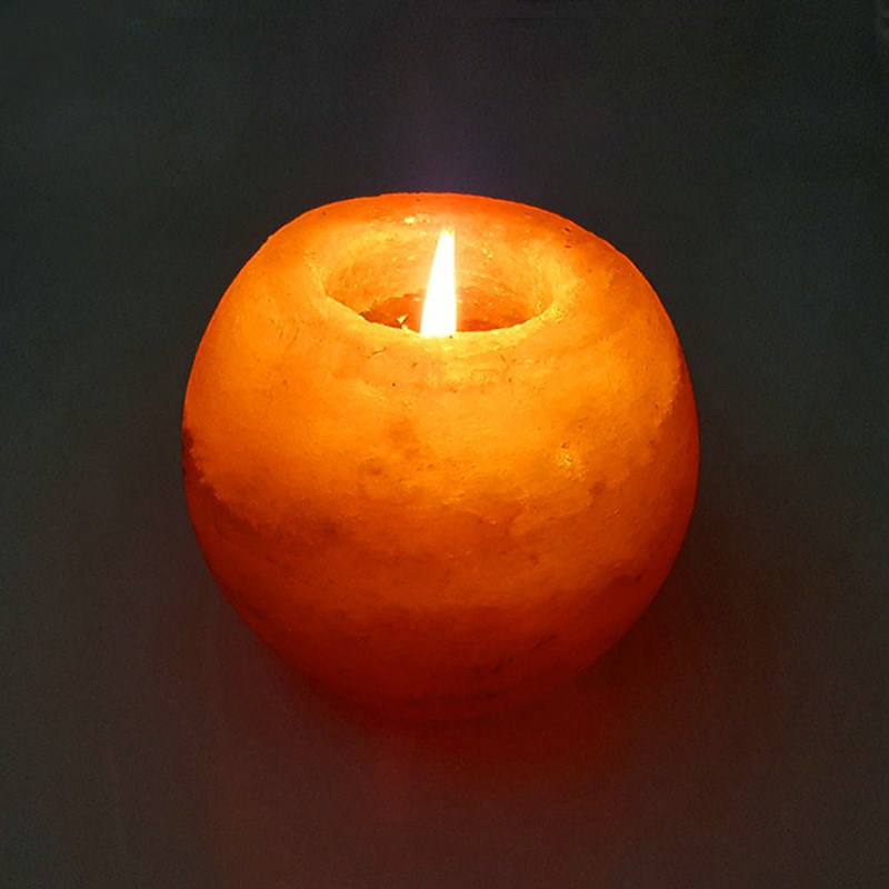 Salt Lamp Tea Lights : Night Light Crystal Himalayan Natural Salt Rock Night Lamp Tea Lights Candle Holder Glowing ...