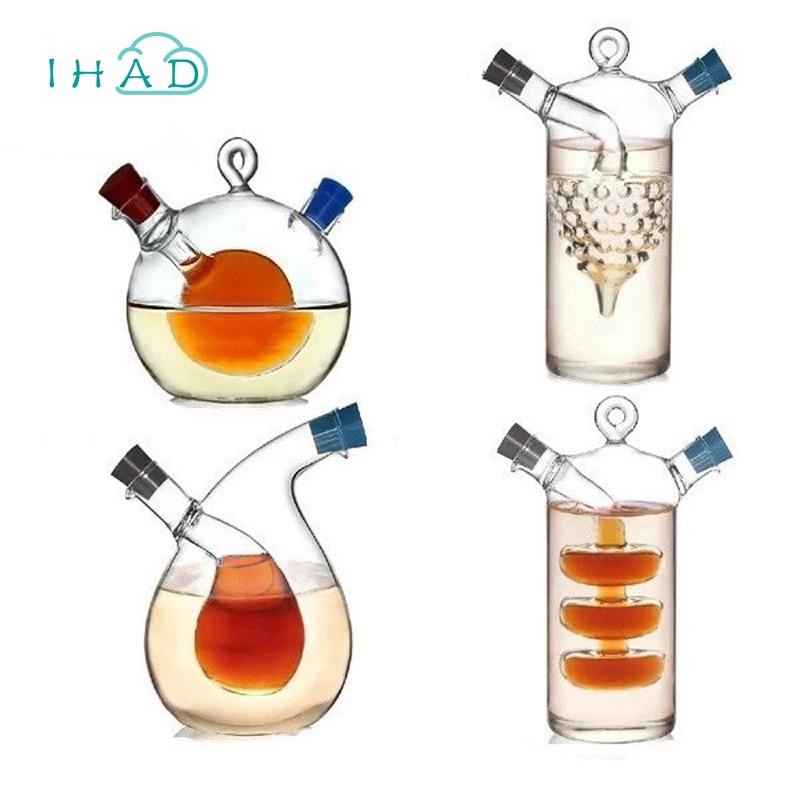 Haute température épices bouteille D'huile et le vinaigre galss bouteille en verre de sauce pot scellé en verre assaisonnement petit de stockage de bouteilles de vin