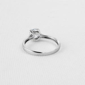 Image 3 - QYI Fijne Sieraden 925 Zilveren Ringen Solitaire 6mm 1ct Ronde Cut Sona CZ Stone Wedding Engagement Ring Voor Vrouwen gift