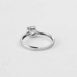 Image 3 - QYI Fine Jewelry 925 Silver Rings Solitaire 6mm 1ct Round Cut Sona CZ Stone Wedding Engagement Ring For Women Gift
