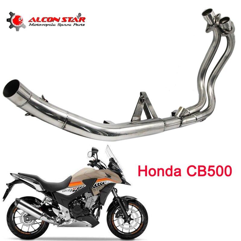 Alconstar для Honda cb500f/CB500X/CBR500 мотоцикл выхлопной контакт средней трубы глушитель разъем ЭСКАТО полный системы
