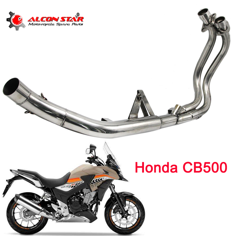 Alconstar For HONDA CB500F/CB500X/CBR500 Motorcycle Exhaust Contact Middle Pipe Muffler Escap Connector Full SystemAlconstar For HONDA CB500F/CB500X/CBR500 Motorcycle Exhaust Contact Middle Pipe Muffler Escap Connector Full System