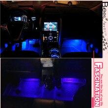 Стиль автомобиля светодиодные украшения для hyundai Solaris Tucson I30 IX35 I20 Accent Santa Fe для Subaru Forester аксессуары