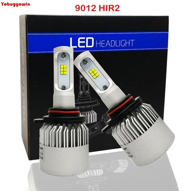 2 sztuk/partia 8000lms Xtremely biały 9012 HIR2LL LED Super Bright 80 W 6000 K biały samochód światła DRL żarówki/ jazdy światła żarówki reflektorów