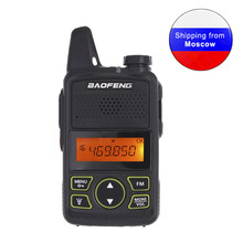 Baofeng BF T1 Mini Handheld two way Radio UHF 400 470MHz 20CH FM Walkie Talkie with Earpiece or + USB Cable