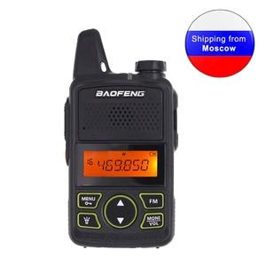 Image 1 - Baofeng BF T1 Mini Radio bidirectionnelle tenue dans la main UHF 400 470MHz 20CH FM talkie walkie avec écouteur ou + câble USB