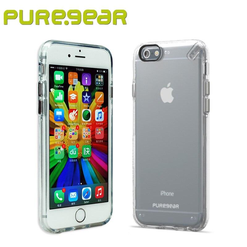 """Цена за Puregear оригинальный тонкий прозрачный Корпуса анти шок чехол для iPhone 6 S 7 Plus (4.7 """", 5.5 """") с розничной упаковке 60770PG 60803PG"""