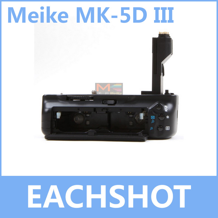 MeiKe MK-5D3, MK-5DIII, BG-E11 BGE11 Battery Holder Grip For Canon 5D Mark III as LP-E6 LPE6 5Ds 5Ds R dste lp e6 7 4v 2600mah decoded li ion battery for e0s 5d mark ii e0s 5d mark iii more black