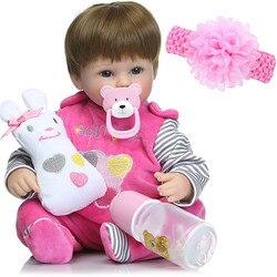 Bebes bonitos reborn menina boneca 18 42cm silicone reborn bebê bonecas vinil recém-nascidos bebês vivos l. o. l boneca presente de aniversário da criança