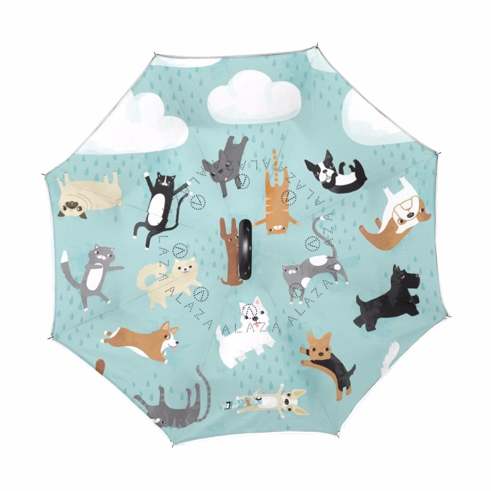 Custom Cute Squirre Compact Travel Windproof Rainproof Foldable Umbrella