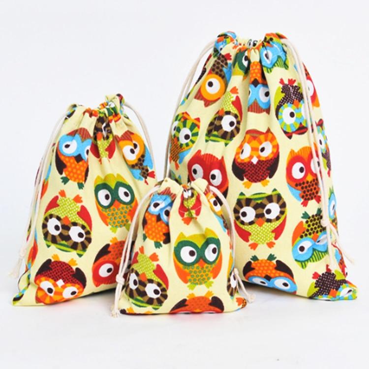 6 màu sắc Thời trang cho Nữ Cotton Dây Kéo Túi Eco Có Thể Tái Sử Dụng Gấp Tạp Hóa Vải Đựng Đồ Lót Lưng Du Lịch Nhà Lưu Trữ