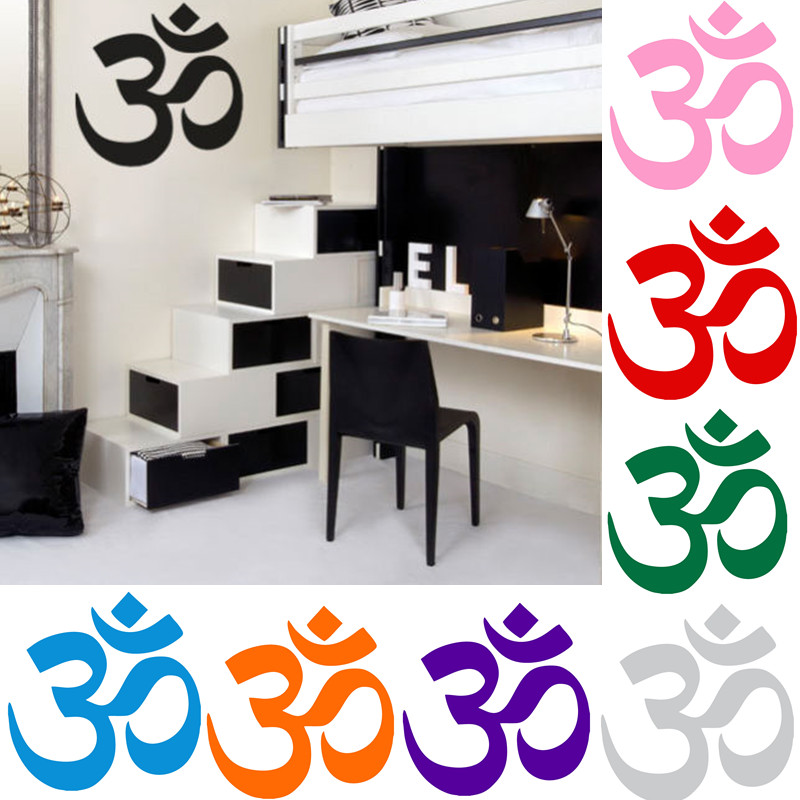 aum om symbol hinduism spiritual wall car decal sticker high quality factory sale directly. Black Bedroom Furniture Sets. Home Design Ideas