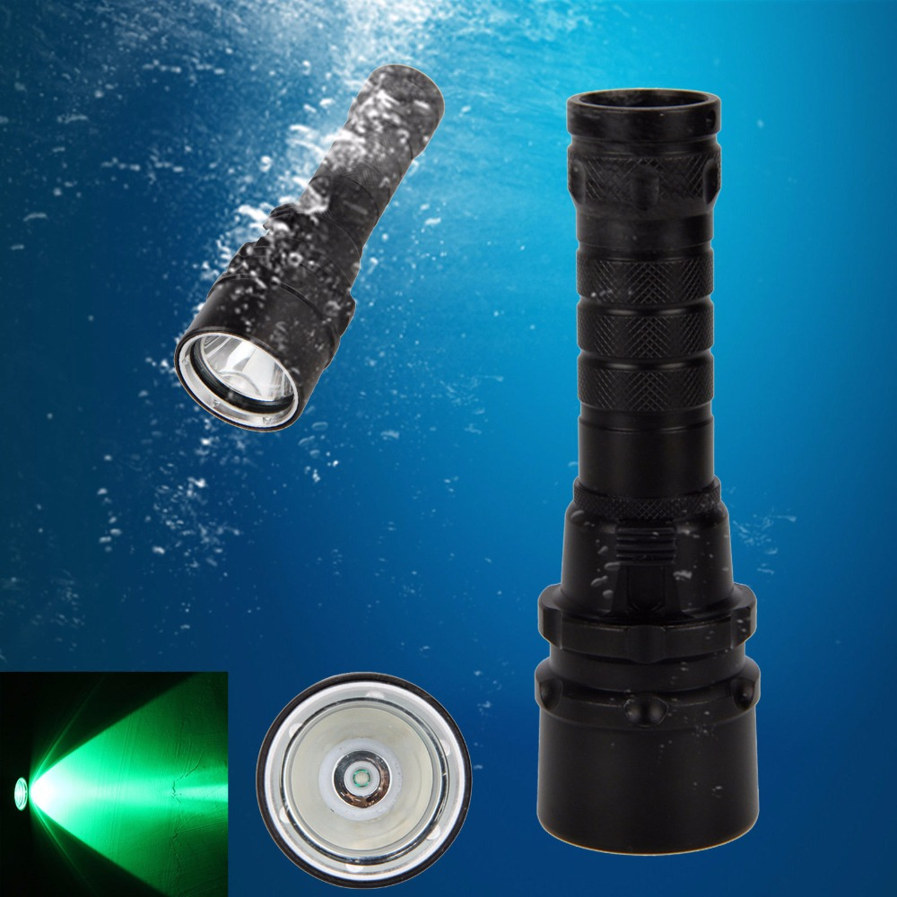 Scuba Diving 3000LM Q5 Green LED Waterproof Flashlight Torch Underwater Lantern spro necton atx green 3000