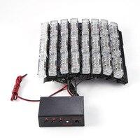 8x9 LED Strobo Lampeggiante Flash Luce Di Emergenza Auto Deck Griglia del Precipitare del veicolo Attenzione Strobe Light per Parabrezza Headliner griglia