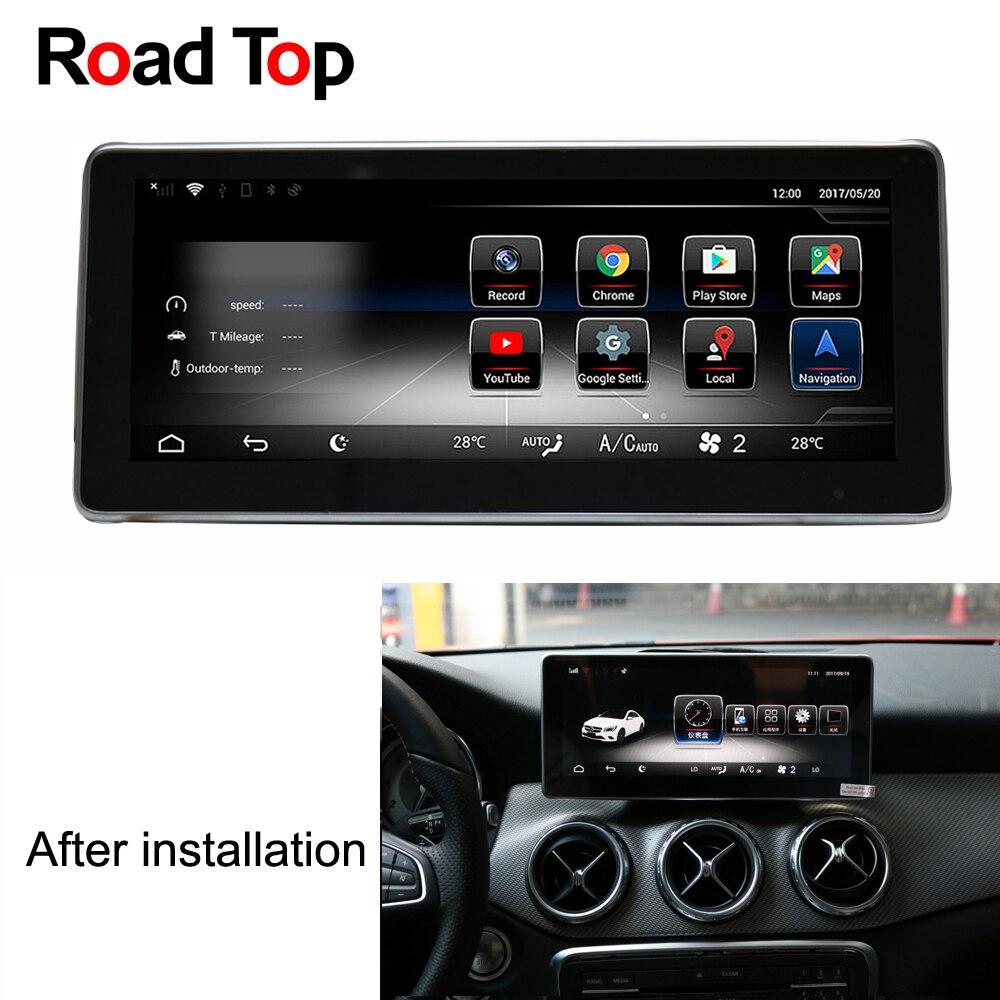 10.25 Android 7.1 Octa 8-Core 2 + 32g Autoradio WiFi GPS Navigation Bluetooth Tête l'écran de l'unité pour Mercedes Benz Classe A W176