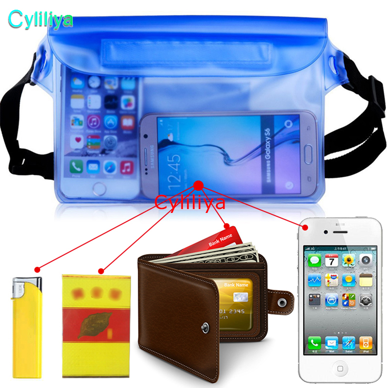 For Universal Waist Pack Waterproof Pouch Case Water Proof Bag Underwater Dry Pocket Cover For Cellphone