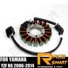 Мотоцикл обмотка статора генератора для YAMAHA YZF R6 2006- зарядки двигателя моторная катушка Магнето Медь YZF-R1 2005 2006 2007
