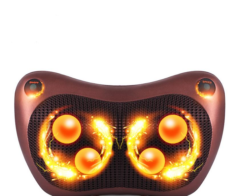 Massage Relaxation Electric Infrared Heating Kneading Neck Shoulder Back Body Spa Massage Pillow Car Chair Shiatsu Device 12164 electric infrared heating kneading neck shoulder back spa massage pillow car chair shiatsu massager masaj device pain relief kit