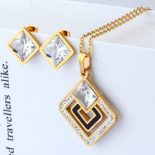 hot deal buy xuanhua stainless steel fashion wedding women jewelry sets bridal jewelry sets store jewellery indian accessories for women