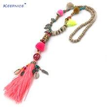 Новинка аксессуары для одежды богемное длинное ожерелье с бусинами