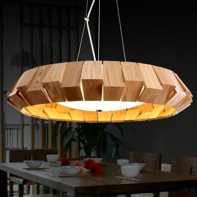 Rustic Wooden Pendant Light Southeast Style Dinning Room Lamp D38cm D50cm D65cm Restaurant