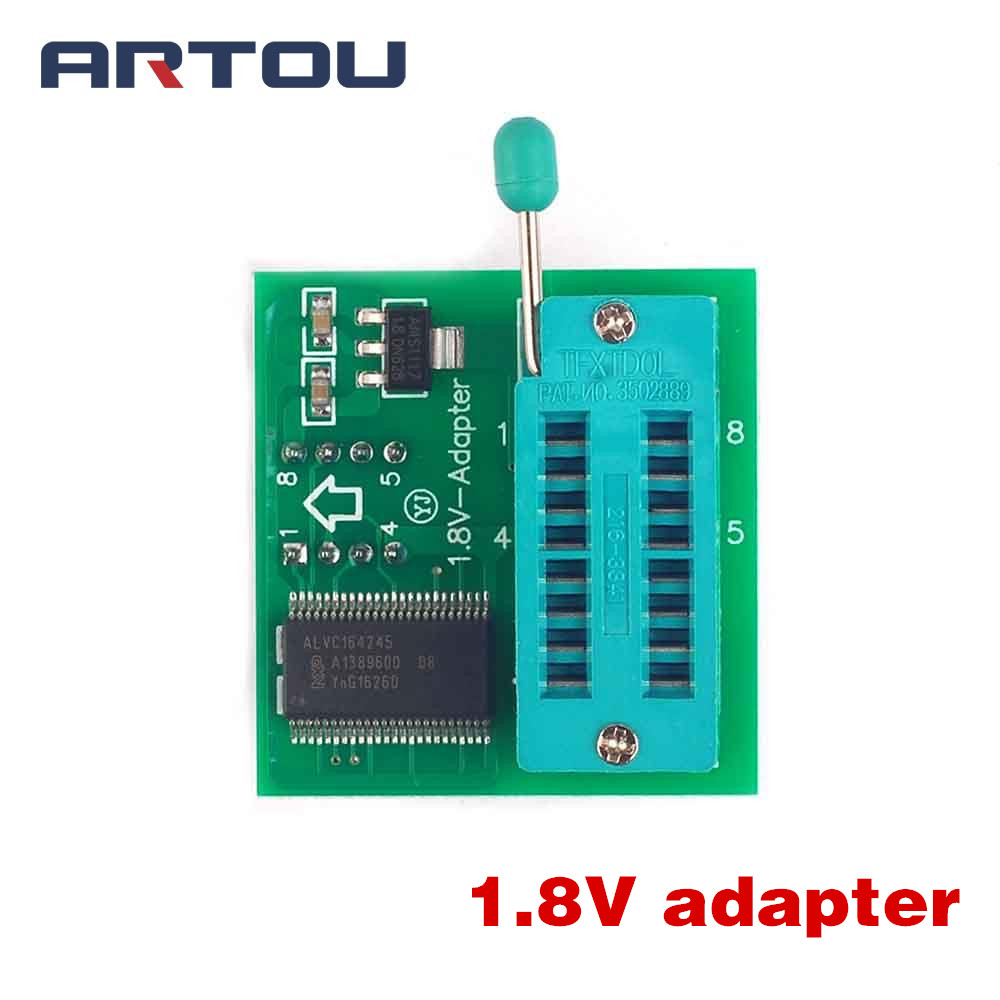 <font><b>1.8V</b></font> <font><b>Adapter</b></font> for Iphone or Motherboard <font><b>1.8V</b></font> <font><b>SPI</b></font> <font><b>Flash</b></font> SOP8 DIP8 W25 MX25 Use on Programmers TL866CS TL866A EZP2010 EZP2013 CH341 image