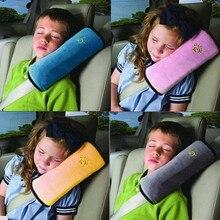 Полезный автомобильный ремень безопасности для детей, детская защита, мягкий чехол на плечо, подушка на голову, на шею, чехол на автомобильное сиденье