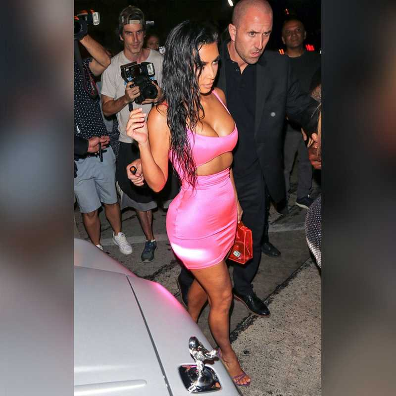 Geyik Bayan Kim Kardashian Elbise 2019 Yeni Gelenler Yaz Pembe Mini Bodycon Parti Elbise Clubwear Seksi Cut Out Elbise