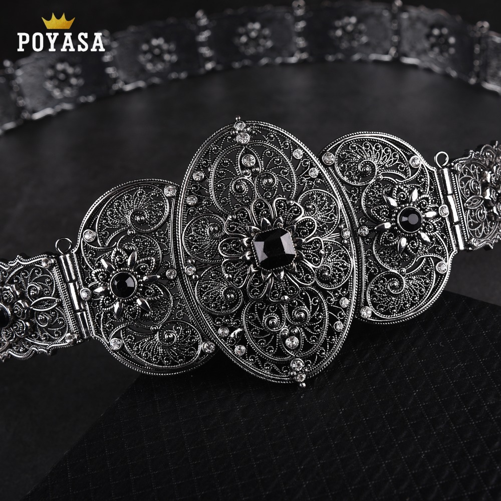 old-silver Ethnic belt for women Caucasus traditional wedding waist chain for women free shipping