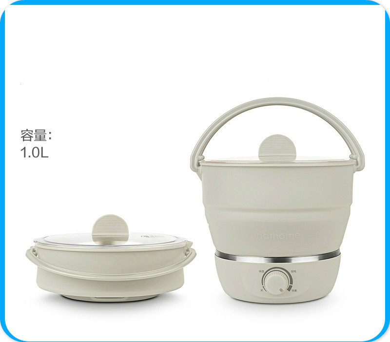 Ev Aletleri'ten Çok Amaçlı Pişiriciler'de Çok fonksiyonlu Taşınabilir Elektrikli Tava Mini Hotpot Erişte  Pirinç ocak Katlanabilir Kamp Yumurta Vapur Pan çorba tenceresi 110 V/220 V title=