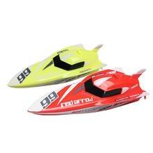Инновационные детская мини Перезаряжаемые удаленного Управление лодка Открытый игрушки воды Дистанционное управление гоночная лодка