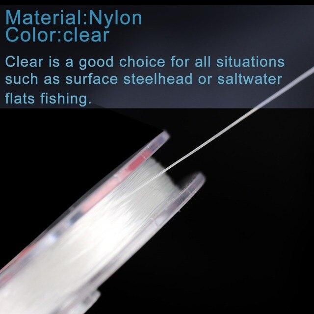 Maximumcatch Tippet Line (2x, 3x, 4x, 5x, 6x, 7x) ligne de pêche à la mouche claire Tippet avec support pour animaux de compagnie et bobine