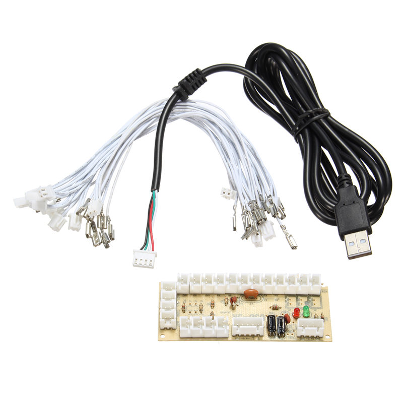 Zéro Retard Arcade USB Encoder PC Joystick Arcade Bascule Circuit Conseil Panneau De Contrôle Pour MAME 2pin + Push Boutons DIY