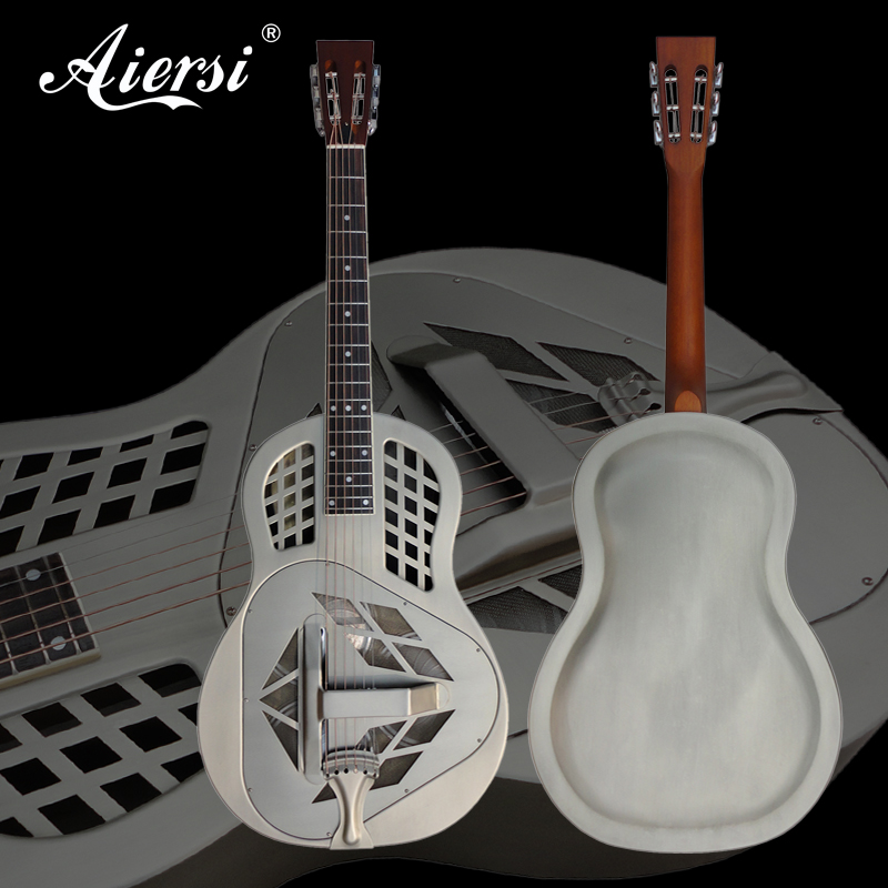 Aiersi Brand Matt Chrome Plated Tricone Metal Body Resonator Guitar Free Guitar Case and Strap A49-BCM диски helo he844 chrome plated r20